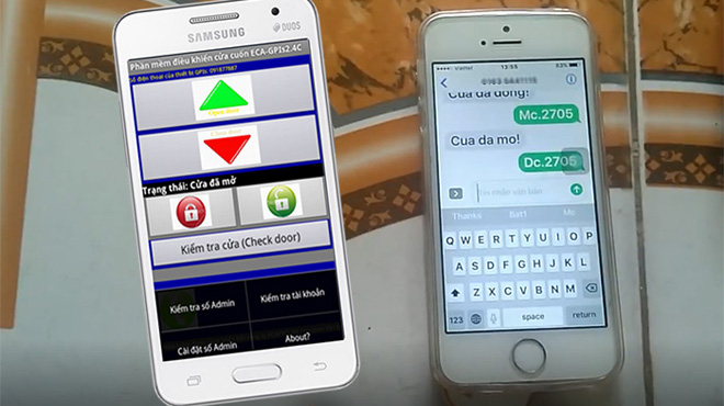 So sánh 3 loại điều khiển cửa cuốn bằng điện thoại hay dùng hiện nay